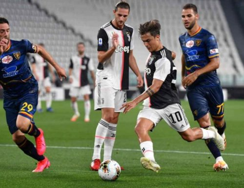 Poker Juventus, Lecce punito oltremisura